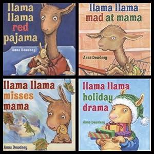 Llama Llama Set (Holiday Drama / Mad at Mama / Misses Mama / Red Pajama) Anna Dewdney
