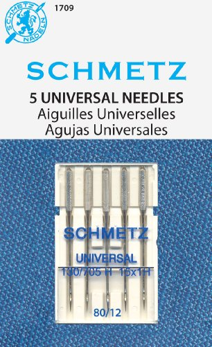 Best Buy! SCHMETZ Universal (130/705 H) Household Sewing Machine Needles - Carded - Size 80/12