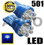 501 4 QUAD LED XENON BLUE SIDELIGHT INTERIOR NUMBER PLATE BULBS W5W 194 T10 RENAULT MEGANE 225 F1 SPORT