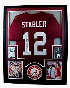 Ken Stabler Framed Jersey Signed JSA COA Autographed Alabama Oakland Raiders by Mister Mancave
