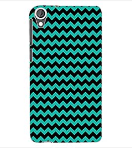 ColourCraft ZigZag Pattern Design Back Case Cover for HTC DESIRE 820