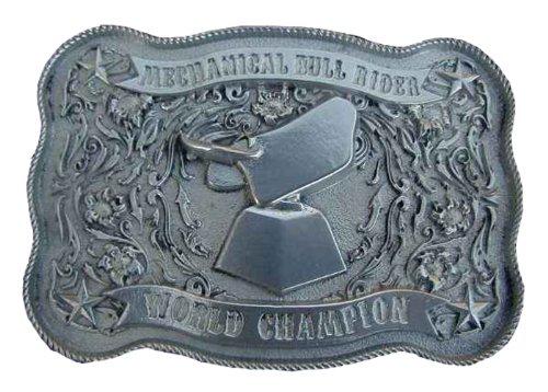 Mechanical Bull Rider World Champion(Buff Shine) Novelty Belt Buckle