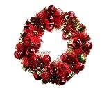 Santa Stores-Luxury Crimson Red Wreath