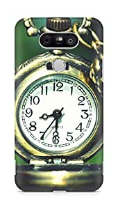 Amez designer printed 3d premium high quality back case cover for LG G5 (Pocket Watch Clocks Macro)