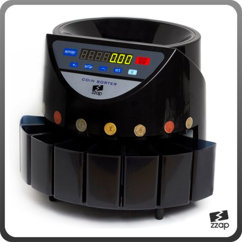 The ZZap CS20 - Automatic UK Coin Counter & Sorter - 270 Coins/Minute Counting Speed And More! Black Friday & Cyber Monday 2014