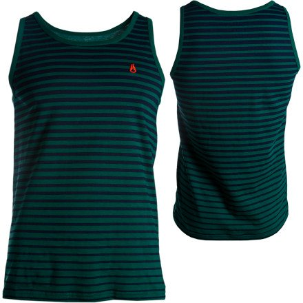 Nixon Faded Tank Top - Men's Forest Green/Navy, S