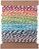 Stripes Paper String by Tim Holtz Idea-ology, 5 Yards of Each Color, 6 Colors, TH93043