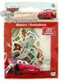 Red Disney Cars 100 Sticker Pack - Cars Mini Size Stickers by Disney