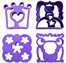 Lunch Punch Sandwich Cutters, Set of 4, Whimsical Shape