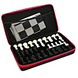 Chess Set Silicone With Tournament Chess Game Pieces & Board Mat Portable Outdoor Package Case