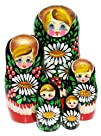 White Blooms Nesting Doll 5-pc 7H
