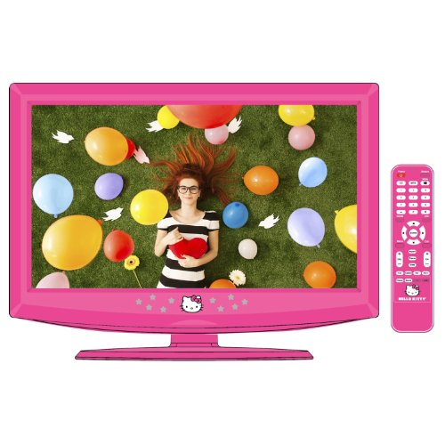 """Hello Kitty 19"""" Lcd Television/Pc Monitor With Remote Control - Kt2219"""