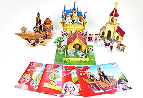 Coeus 3d Wooden Puzzle- The Beautiful World-the Wedding Chapel -Educational Games for Kids / 3d Puzzles for Adults magnetic wooden puzzle toys for children educational wooden toys cartoon animals puzzles table kids games juguetes educativos