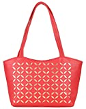 Coash Red Cutwork Handbag