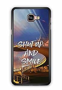 YuBingo Shut Up and Smile Designer Mobile Case Back Cover for Samsung Galaxy A9