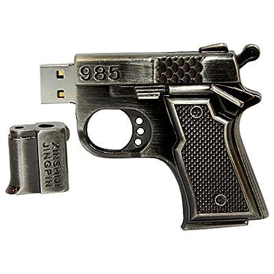 16 GB Pen Drive Pistol Shape Black Color USB 2.0 Pen Drive MT1001