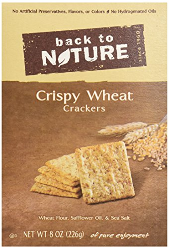 Back To Nature Crackers, Crispy Wheat, 8 Ounce (Wheat Cheese Crackers compare prices)