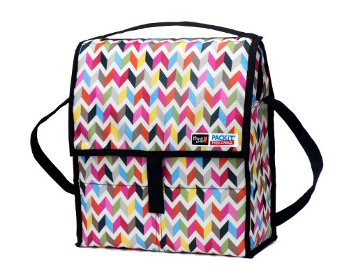 PackIt Freezable Picnic Bag with Zip Closure, Ziggy