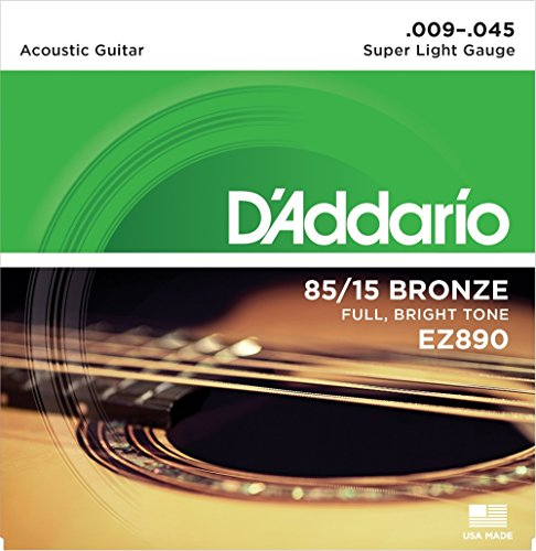 D'Addario Great American Bronze 85/15 Super Light Acoustic Strings .009-.045