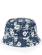 Pure Cotton Hibiscus Print Pull On Hat