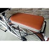 【ノーブランド品】自転車架台用 リアキャリア シート (ブラウン)