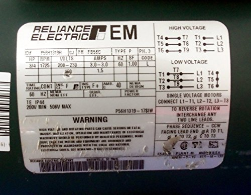 506V Max 1725 Rpm Fb56C Frame 3/4 Hp Electric Motor