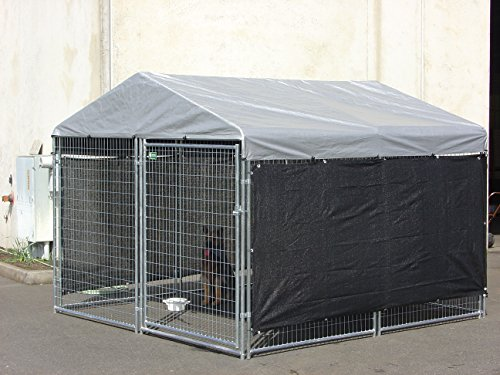 Dog kennel shade wind screen weather guard extra large for All weather dog kennels