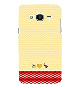 Chevron Red Dots 3D Hard Polycarbonate Designer Back Case Cover for Samsung Galaxy J3 (6) J320F :: Samsung Galaxy J3 (2016)