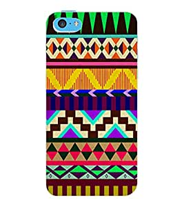 ColourCraft Tribal Pattern Design Back Case Cover for APPLE IPHONE 5C