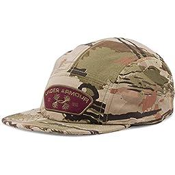 UNDER ARMOUR 1259239 900 MEN ADULT ADJUSTABLE ANTLER PATCH CAMO CAP HAT