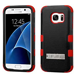 MyBat Cell Phone Case for Samsung Galaxy S7 - Retail Packaging - Black/Red/Red
