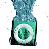 Green UNDERWATER AUDIO 100% Waterproof iPod Shuffle. Click on SPECIAL OFFERS AVAILABLE for discounted waterproof headphones offer. Add headphone to cart to activate offer.