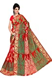 Makeway Women's Art Silk Saree (230_Red)