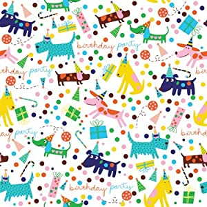 Amazon.com: 'Barkday' Birthday Gift Wrapping Paper Roll 24 ...