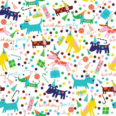 'Barkday' Birthday Gift Wrapping Paper Roll 24″ X 16′