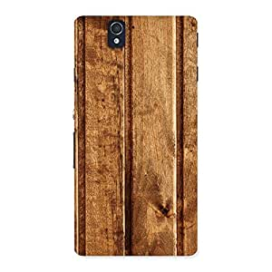 Stylish Wood Texture Back Case Cover for Sony Xperia Z