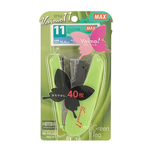 max-vaimo-11-style-stapler-40-sheets-max-green-tea-green