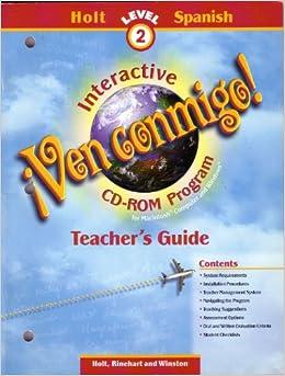 Ven Conmigo Interactive CD-Rom Program Teacher's Guide ...