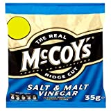 The Real McCoy's Ridge Cut Salt & Malt Vinegar 35g Price Marked 49p (Pack of 44)