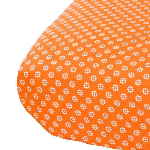 Oliver B Crib Sheet, White/Orange
