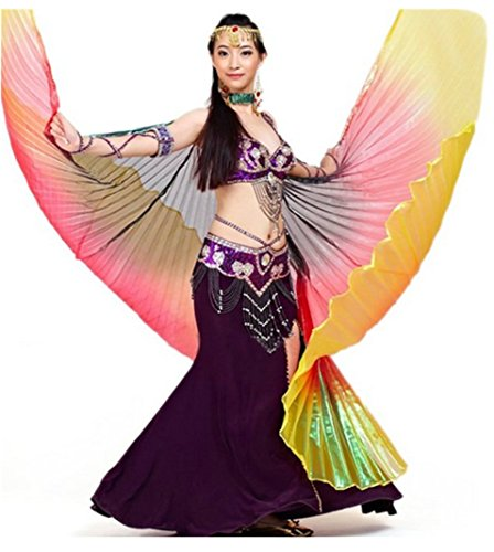 Belly Dance Isis Wings Tragarse®Colorful Rainbow Dance Props Isis Wing Costume