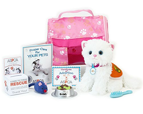 ASPCA® Adopt-A-Pet Kitten Set. Doll Pets, Complete 11 Piece ASPCA® Kitten Set Perfect for your 18 Inch American Girl Doll & More! Includes 11 Piece 18 Inch Doll Play Set with Cat Carrier in ASPCA® Box