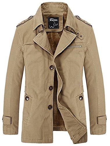 Men&39s Cotton Turn Down Jacket With Fleece