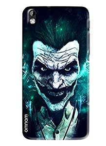 Omnam Horror Printed Back Cover with smiling mask for HTC Desire 816