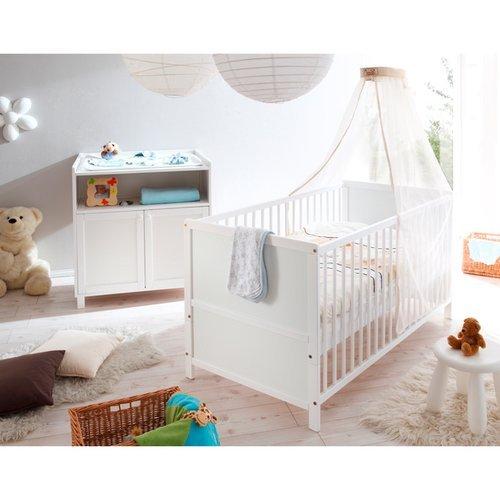2-tlg. Babyzimmer-Set 'Croco' Farbe: Weiß