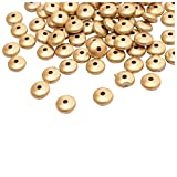 Foppish Mart Golden Circular Flat Beads