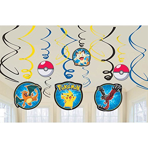 Napkins 12 Count Pokemon Foil Swirl Decorations, Multicolor