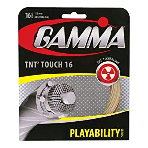 GAMMA Live Wire XP Tennis String Set, Natural, 1.27mm