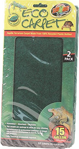 Zoo Med Reptile Cage Carpet for 15-Inch Long and 20-Inch High Tanks, 24 x 12-Inches