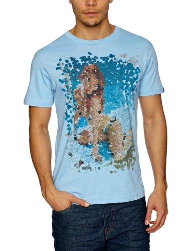 Bench Hole Punch Pin Up Logo Men's T-Shirt Blue Large